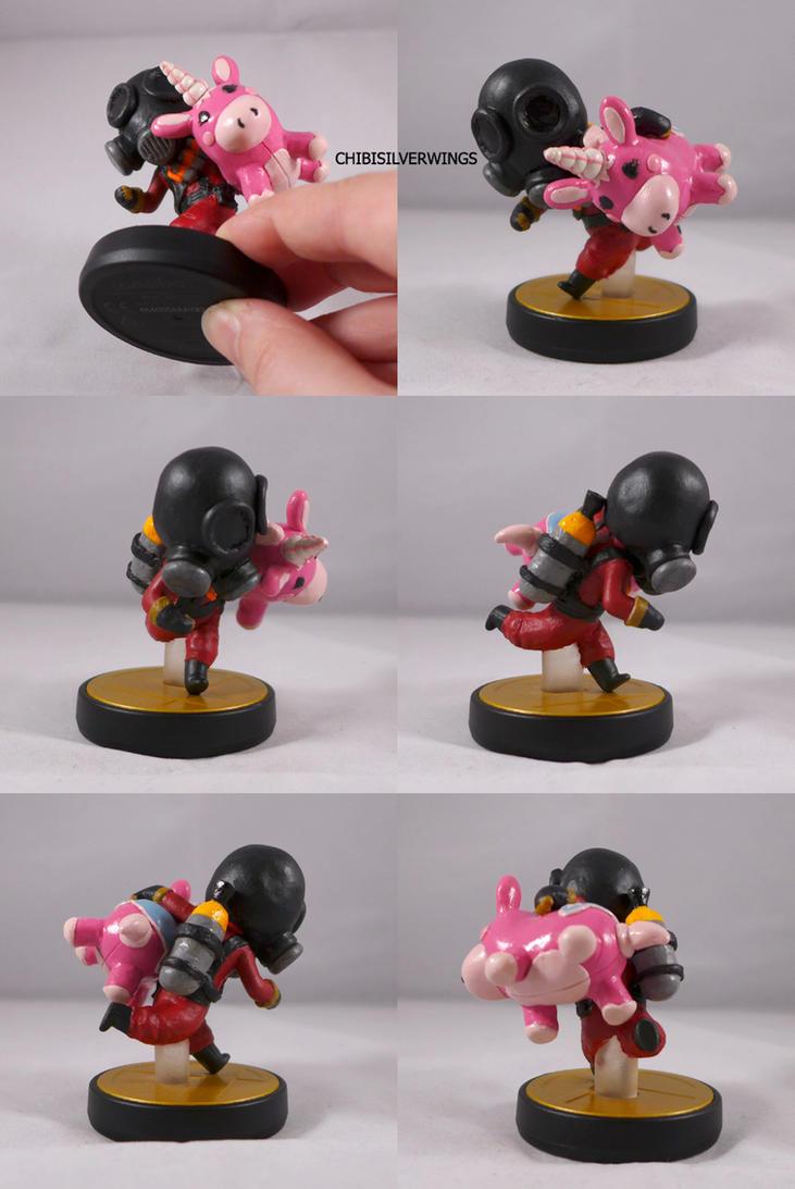 TF2 Pyro and Balloonicorn Amiibo by ChibiSilverWings