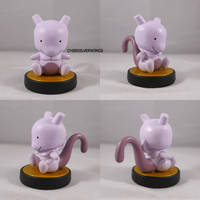 Mewtwo Ditto Amiibo by ChibiSilverWings