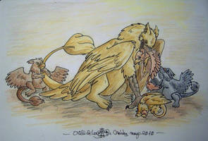 Gryphon with babies by aiduqui
