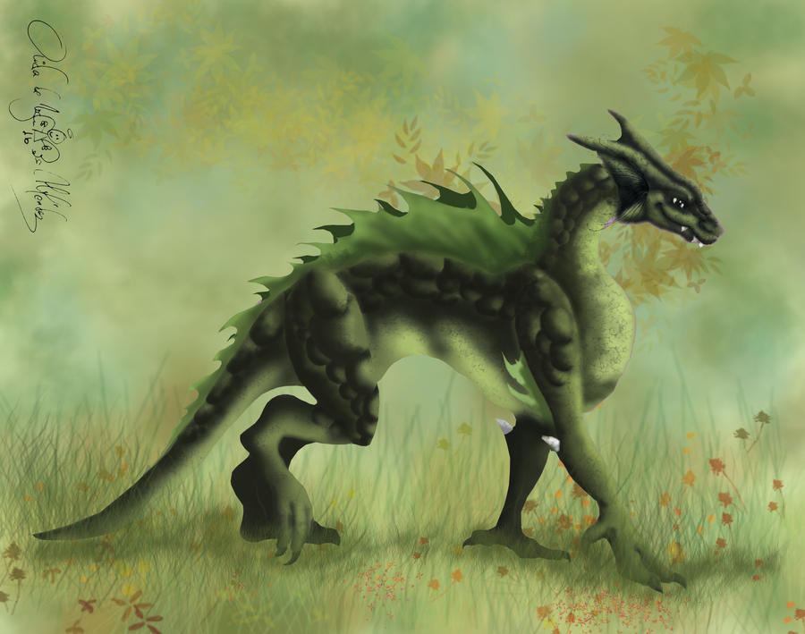 Green Dragon by aiduqui