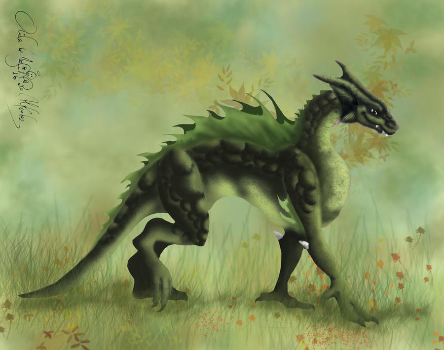 Green Dragon by aiduqui