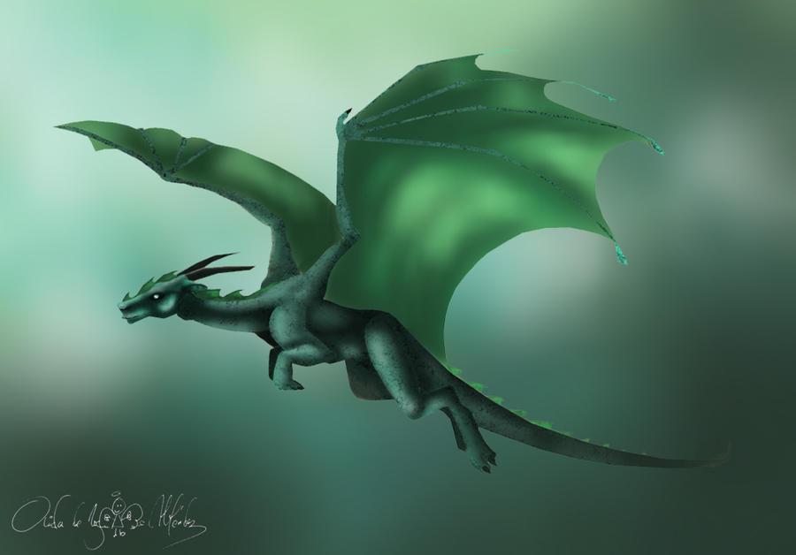 82 Green Dragons Wallpaper