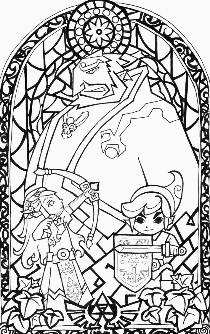 Wind waker black white fanart window by aiduqui on deviantart for The legend of zelda coloring pages