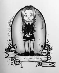 Inktober 2016/4. Wednesday Addams