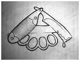 Straight Razor + Brass Knuckle by flim