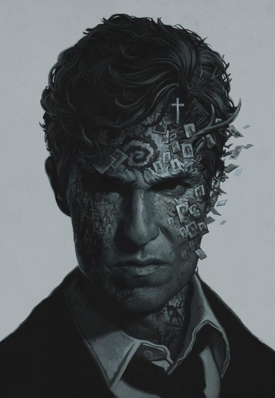 True Detective art by shwedoff