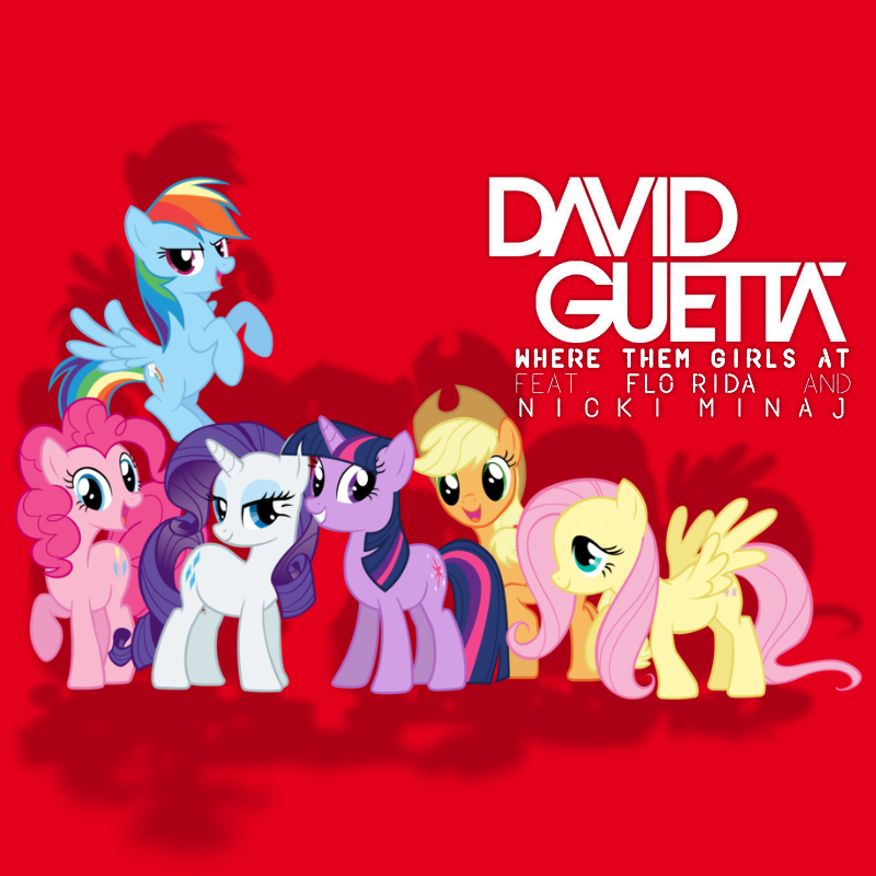 Guetta/Flo Rida/Minaj - Where Them Girls At (MLP) by AdrianImpalaMata