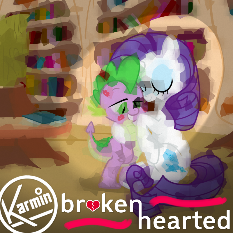 Karmin - Brokenhearted (Spike and Rarity) by AdrianImpalaMata