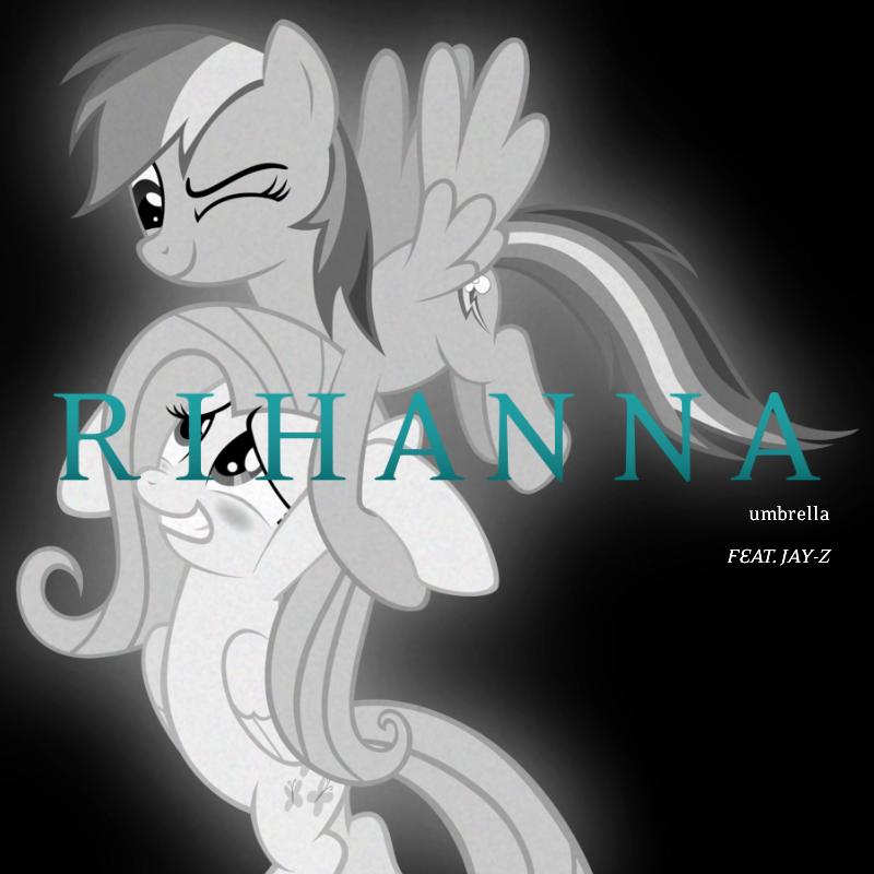 Rihanna / Jay-Z - Umbrella (RD and Fluttershy) by AdrianImpalaMata