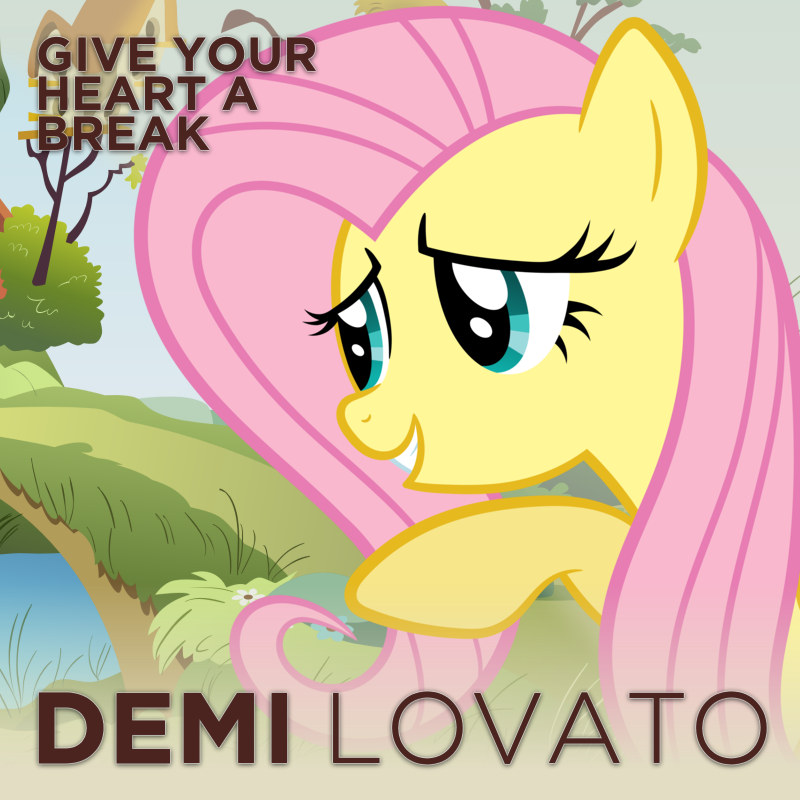 Demi Lovato - Give Your Heart a Break (Fluttershy) by impala99