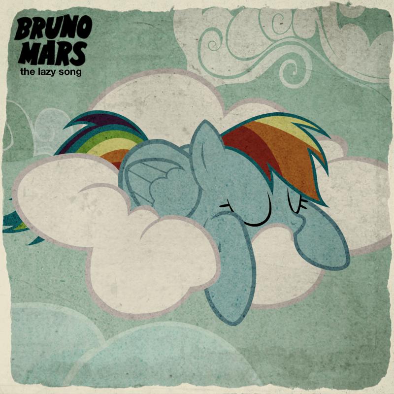 Bruno Mars - The Lazy Song (Rainbow Dash) by AdrianImpalaMata