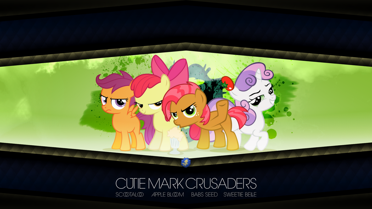 Cutie Mark Crusaders + Babs Seed (Wallpaper) by AdrianImpalaMata