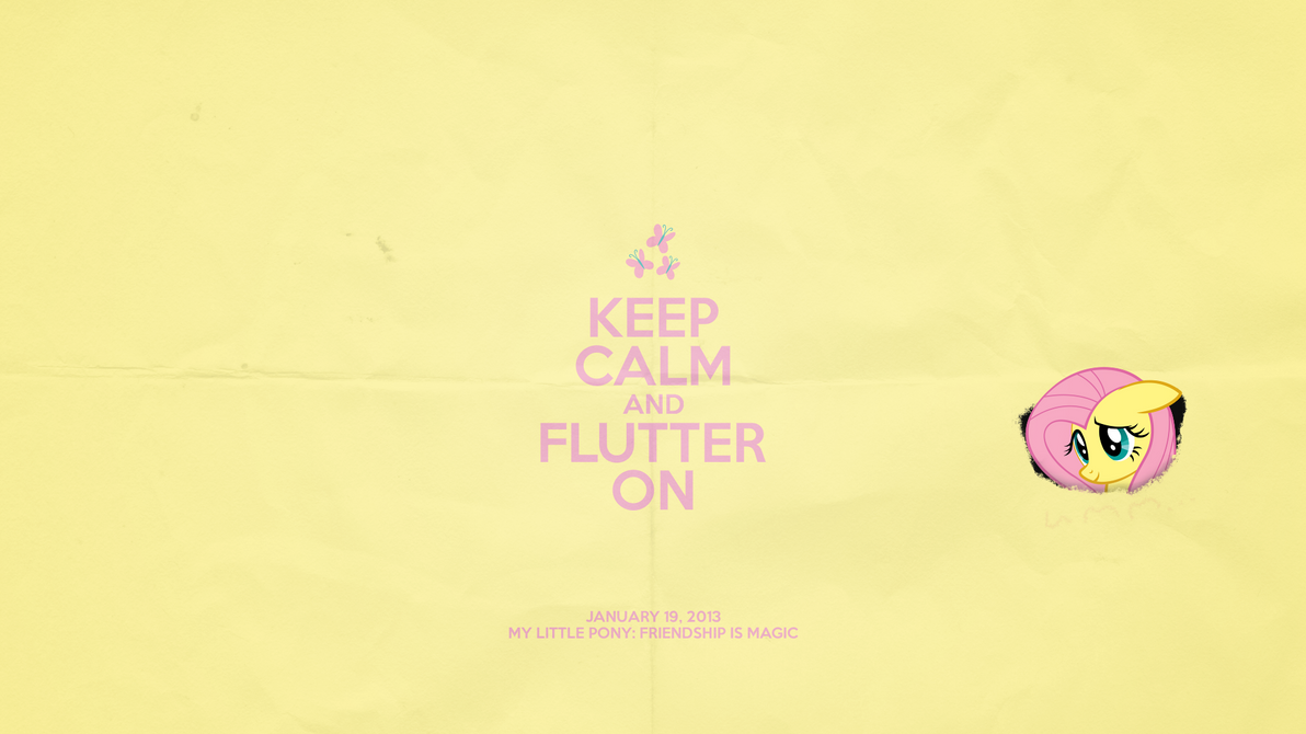 Keep Calm and Flutter On by impala99