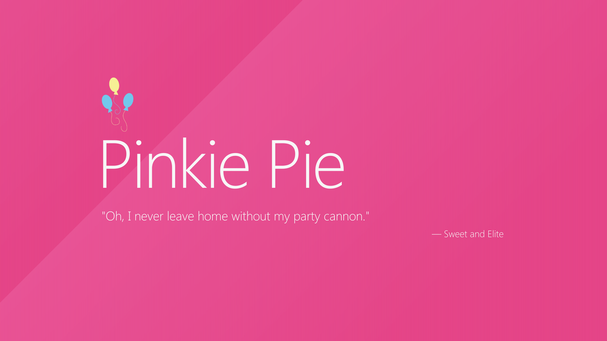 Pinkie Pie | Windows 8 by AdrianImpalaMata