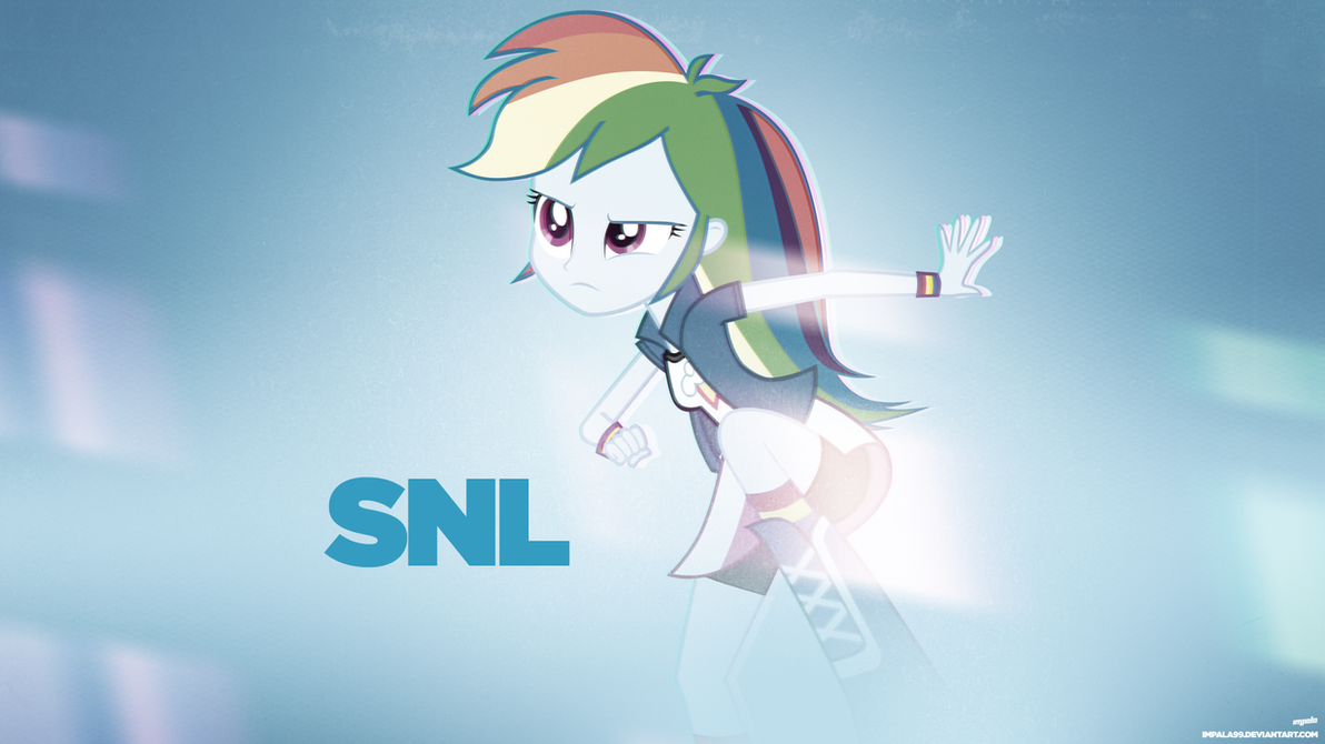 Rainbow Dash on Saturday Night Live by AdrianImpalaMata