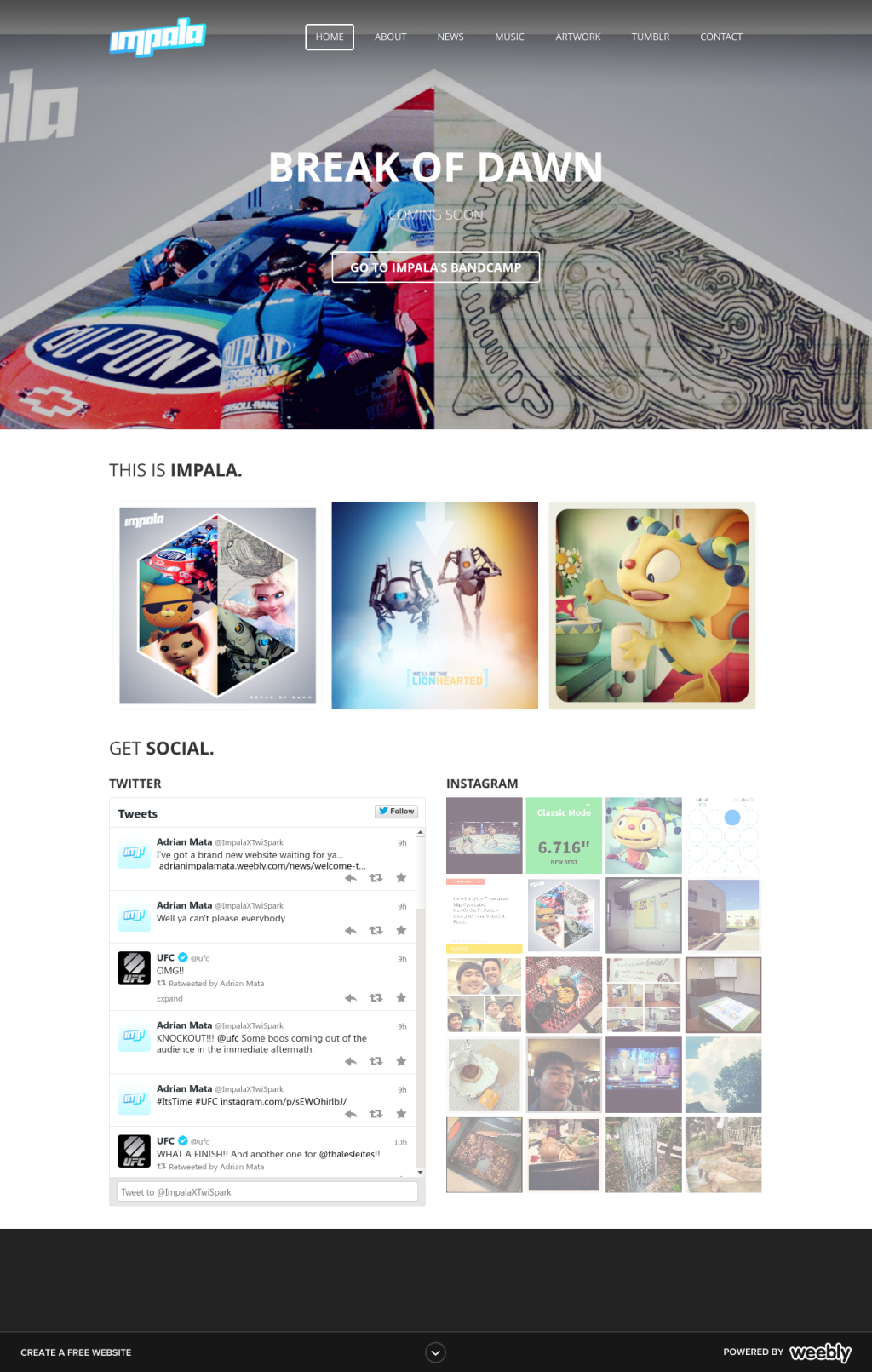 Impala Website Preview by impala99