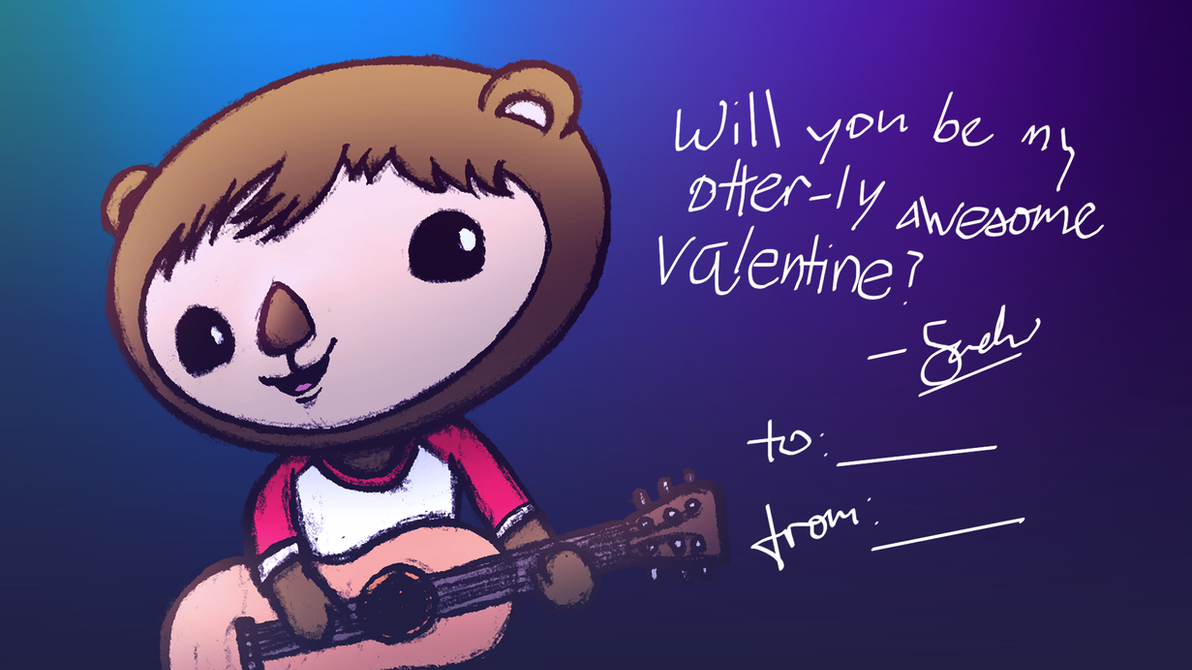 Otter-ly Awesome Valentine by AdrianImpalaMata