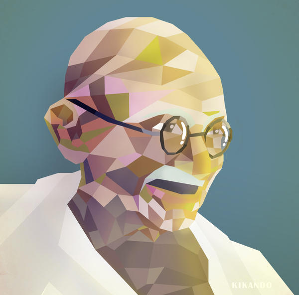 gandhi by kikando