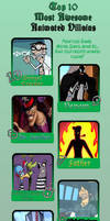 Top 10 Awesomest Animated Villains Meme by JasperPie