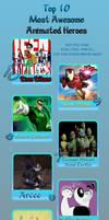 Top 10 Awesomest Heroes Meme by JasperPie