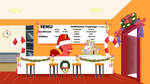Pie's Pizzeria decked for the holidays by JasperPie