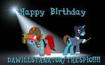 Birthday Gift to Thespio by JasperPie