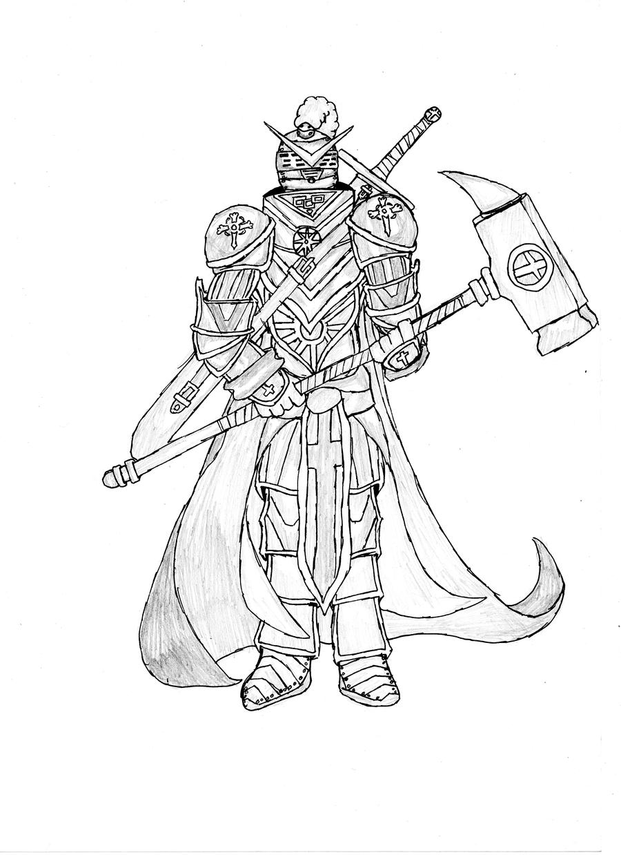 Line Drawing Knight : Templar knight by kadmonx on deviantart