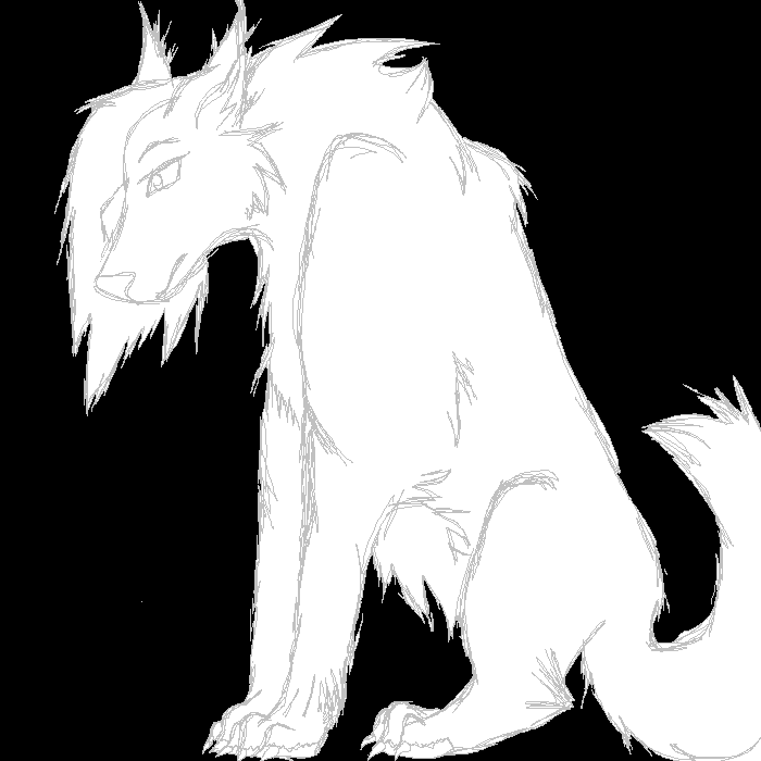 Sitting Wolf Drawings Wolf Sitting Down