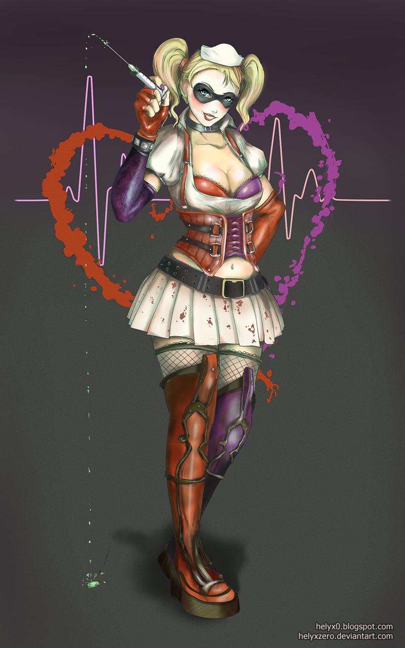 Hellooo Nurse! ~ Harley Quinn (Arkham Asylum) by helyxzero