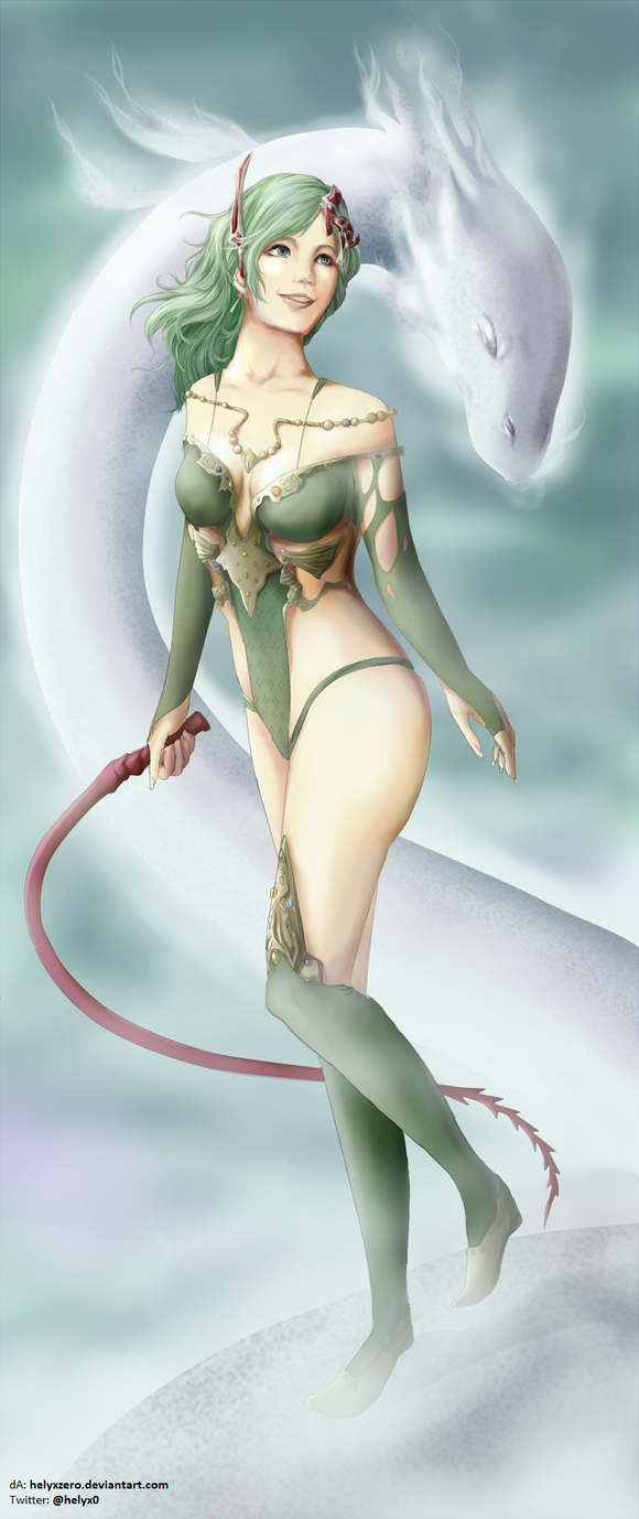 Rydia (FFIV: The After Years) by helyxzero