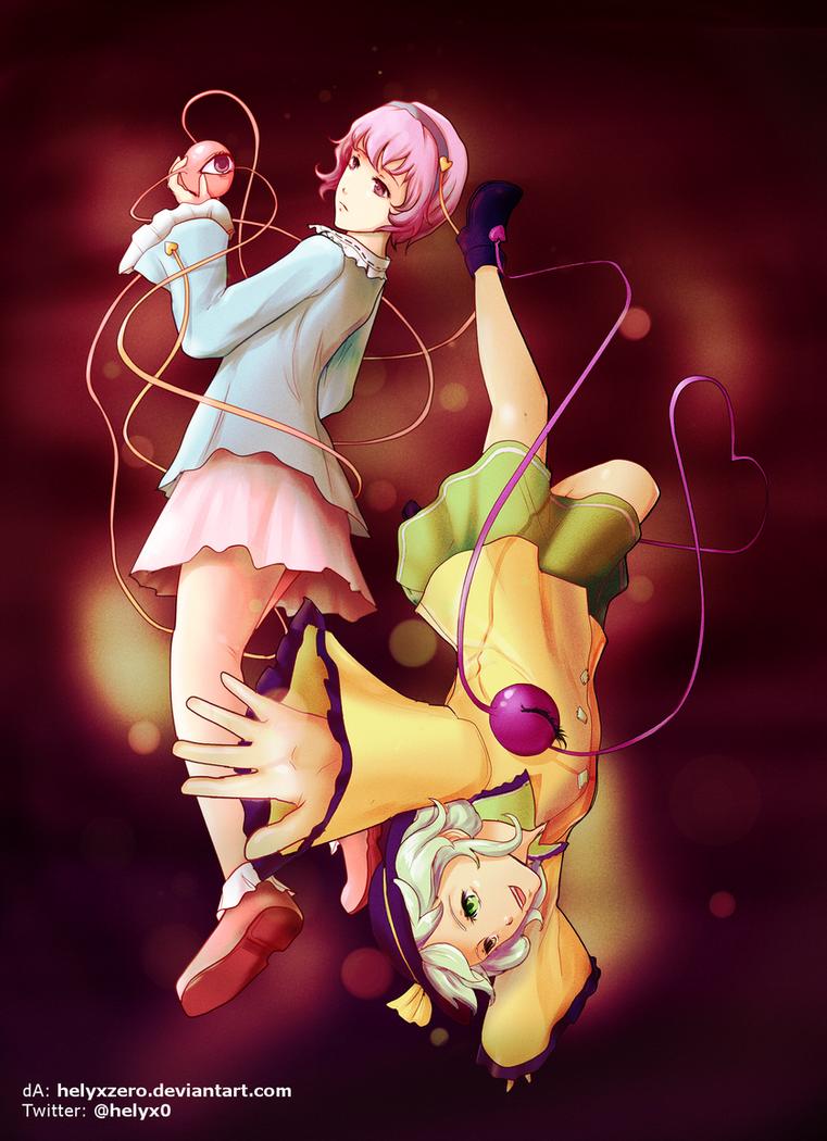 (sub)conscious - Satori and Koishi Komeiji by helyxzero