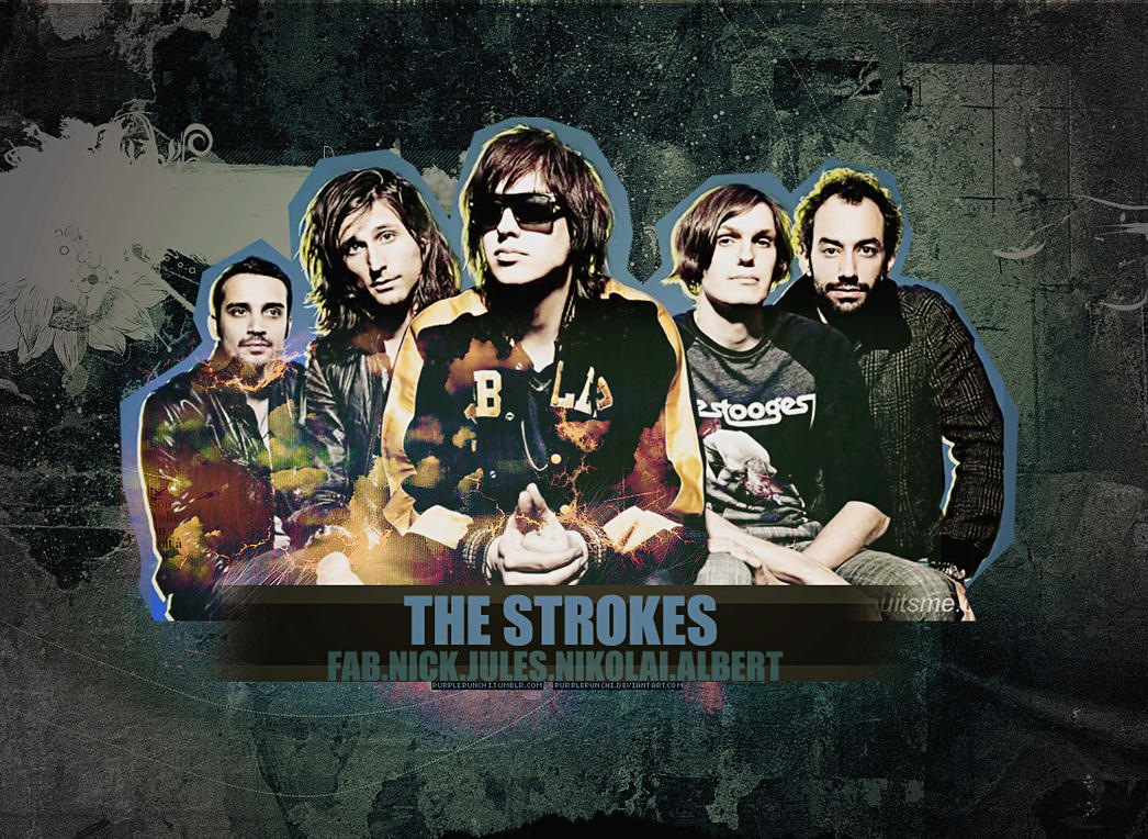 The strokes wallpaper by purplepunchi on deviantart the strokes wallpaper by purplepunchi altavistaventures Images