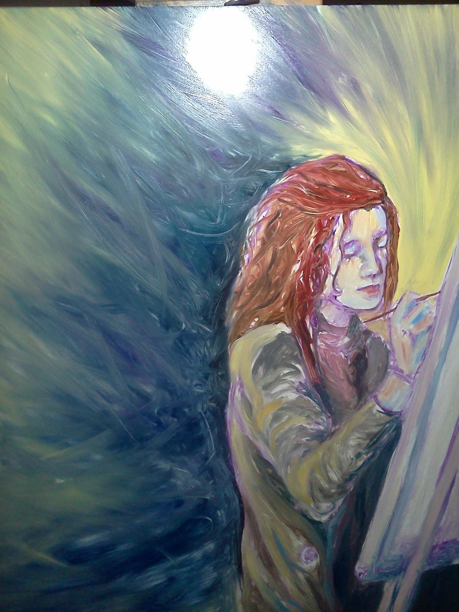 Karissa Painting--WIP2 by SundayPrism