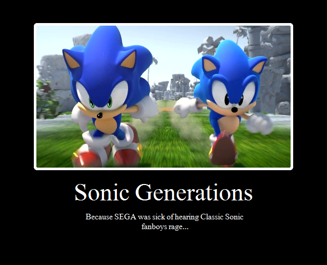 Sonic Generations is actually good!