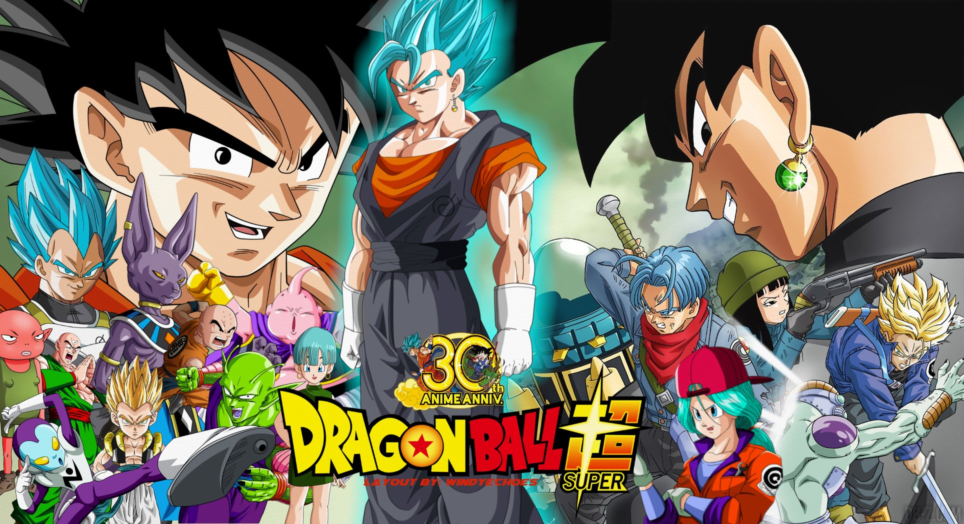 Dragon Ball Super Wallpaper Black Goku And Trunks By Windyechoes
