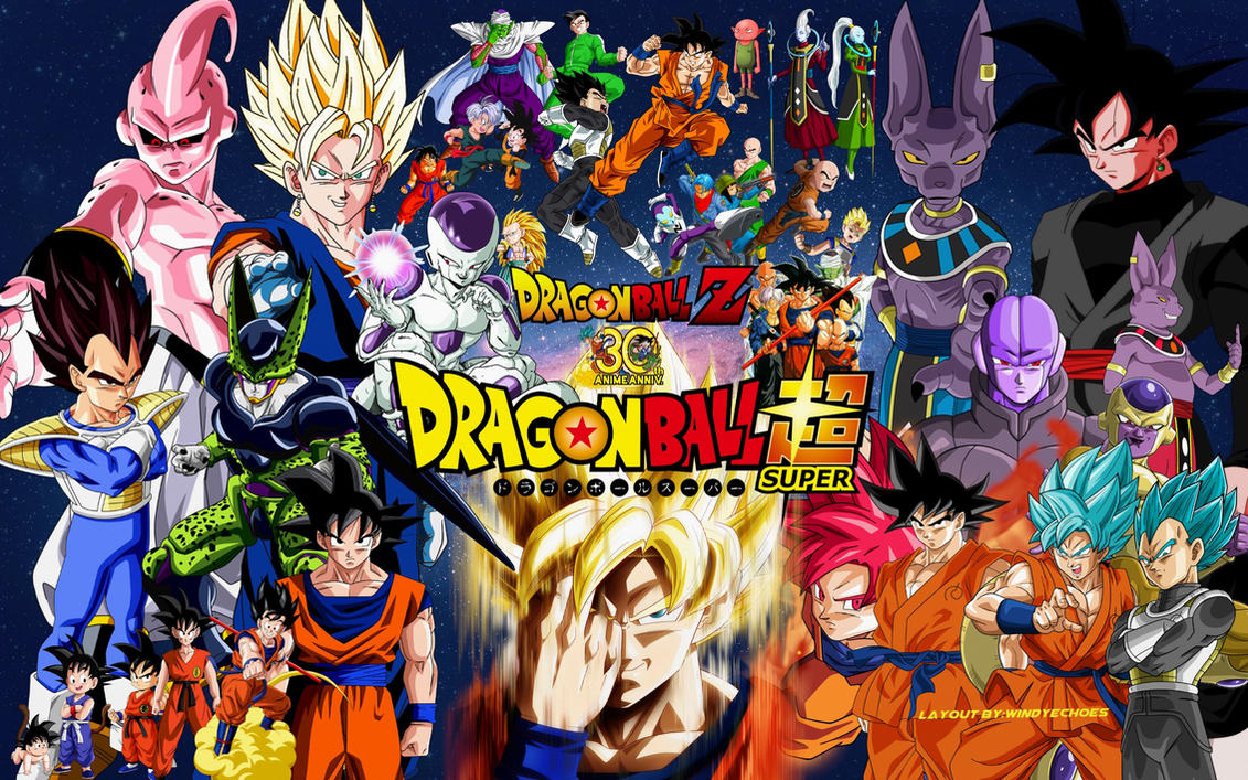 Dragon Ball Z And Super Wallpaper #1 by WindyEchoes