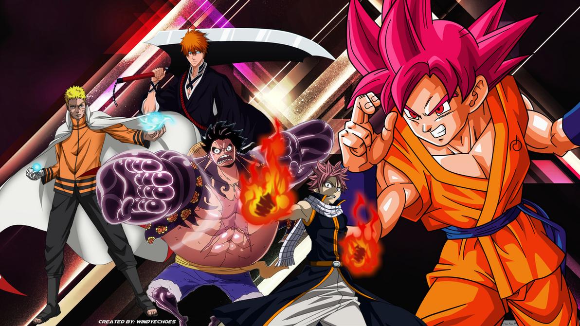 Great Wallpaper Naruto Dbz - goku_ichigo_naruto_luffy_natsu_anime_wallpaper_by_windyechoes-dae8q66  Pic_511006.png
