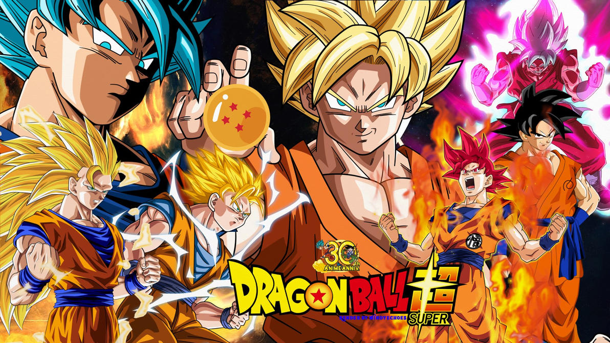 Dragon Ball Super Wallpaper - Goku's Evolution by WindyEchoes