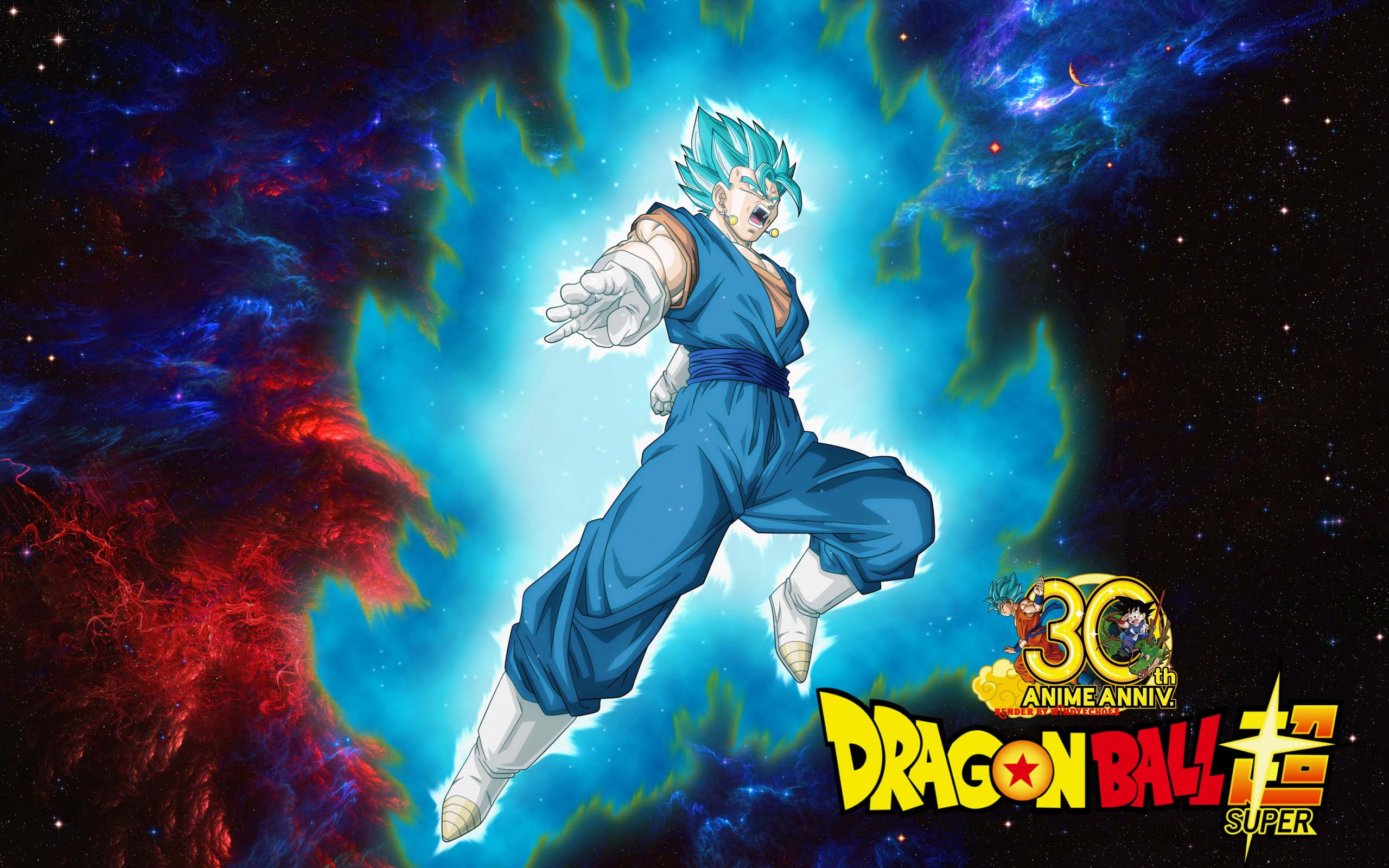 Dragon Ball Super Wallpaper Vegito Saiyan Blue By Windyechoes On