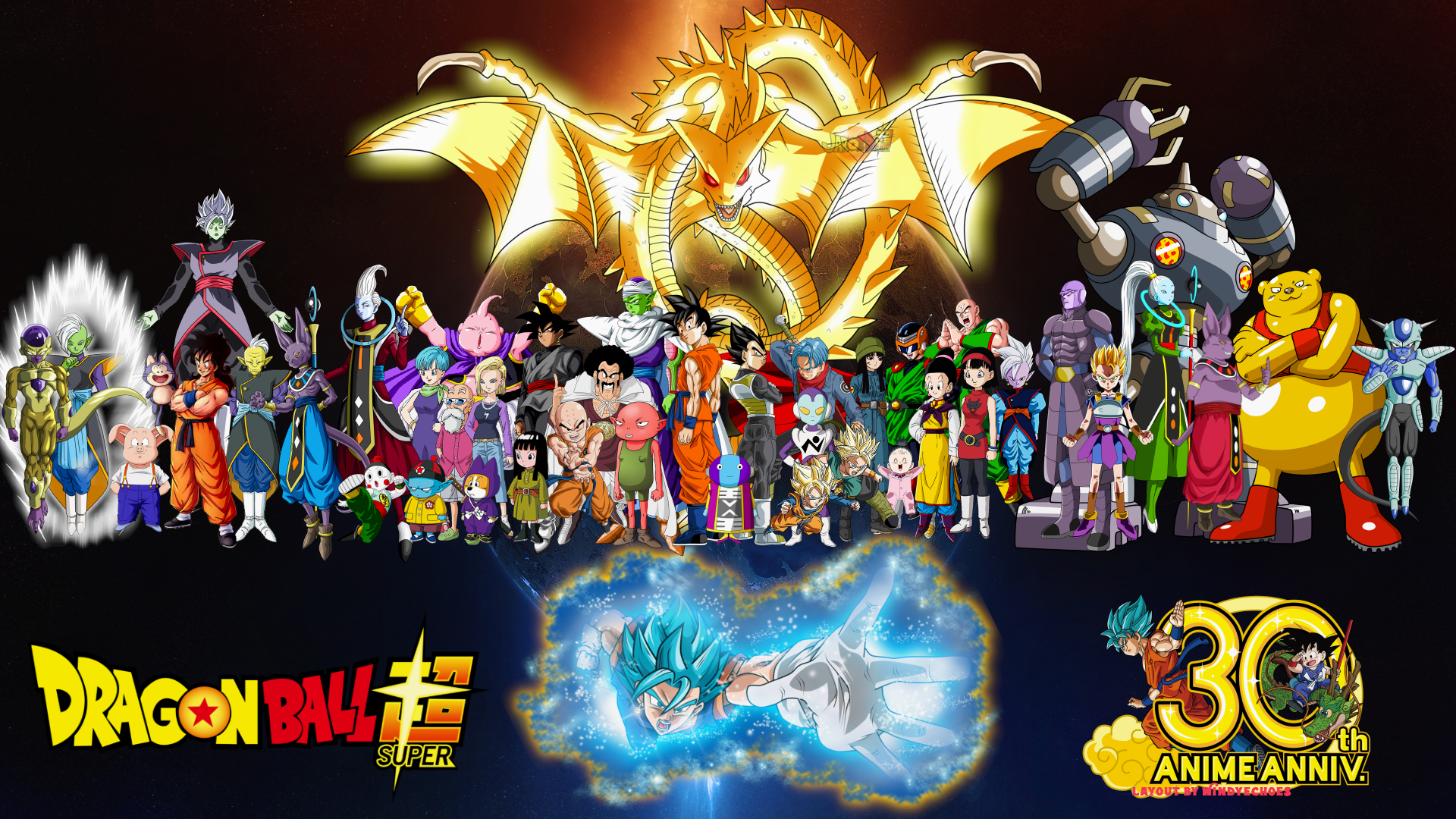 DRAGON BALL SUPER WALLPAPER ULTIMATE GROUP by WindyEchoes