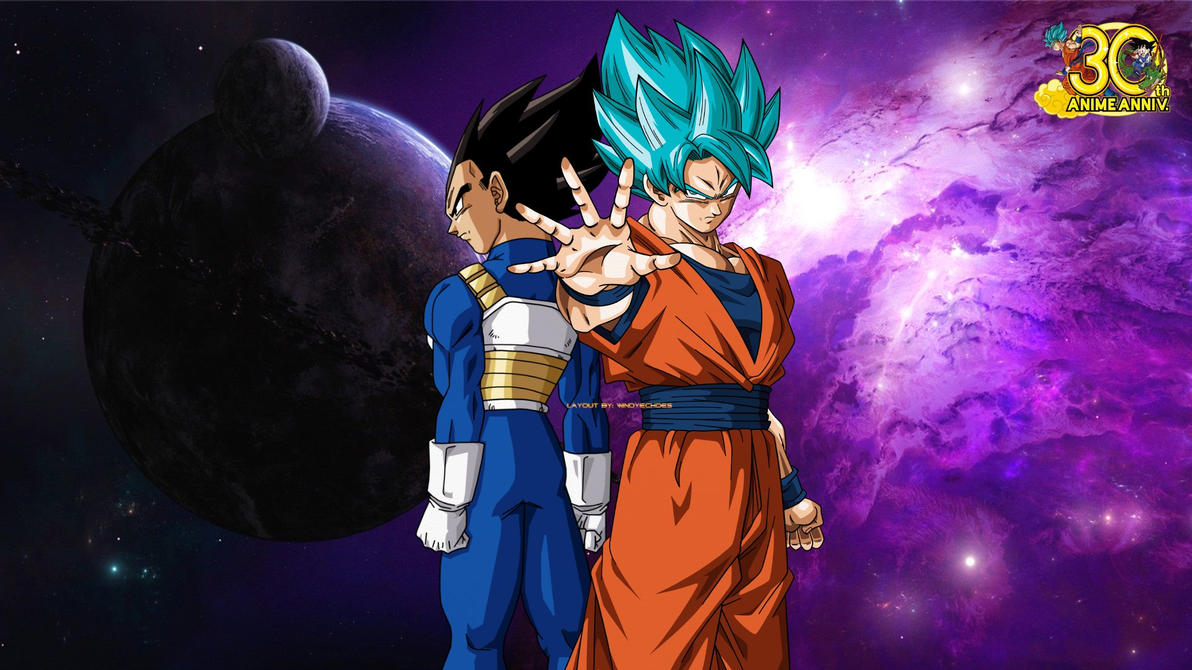 goku and vegeta - dragon ball super wallpaperwindyechoes on