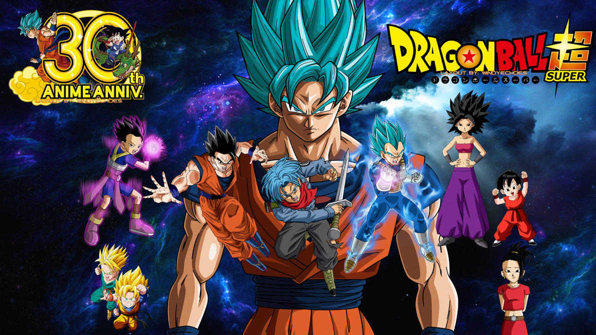 Dragon Ball Super - All Saiyans Wallpaper by WindyEchoes