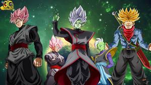 Future Trunks Rage And God Zamasu Wallpaper
