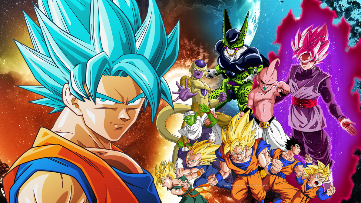 Dragon Ball Z And Dragon Ball Super Wallpaper by WindyEchoes