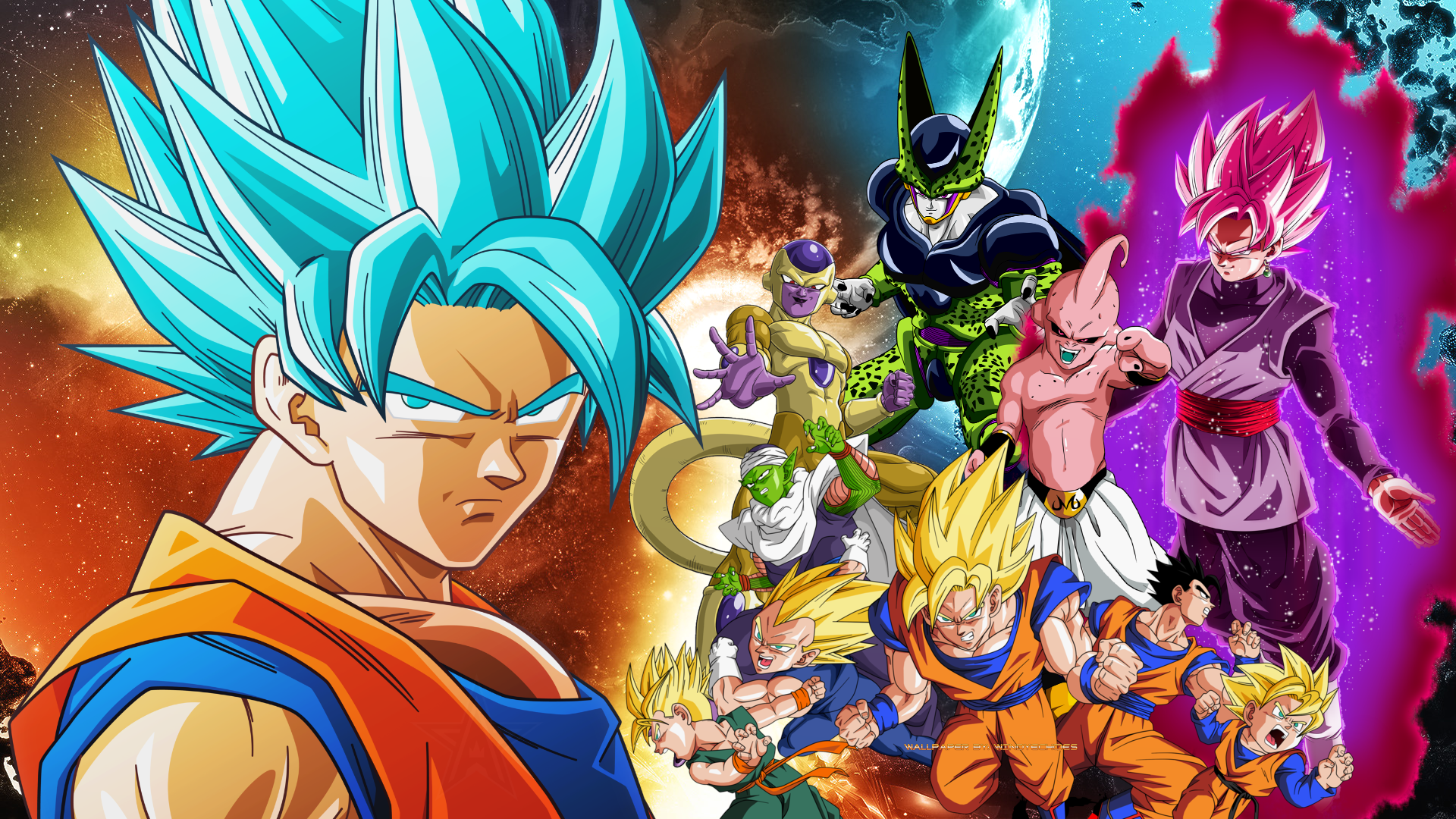 Dragon Ball Z And Dragon Ball Super Wallpaper By Windyechoes On Deviantart