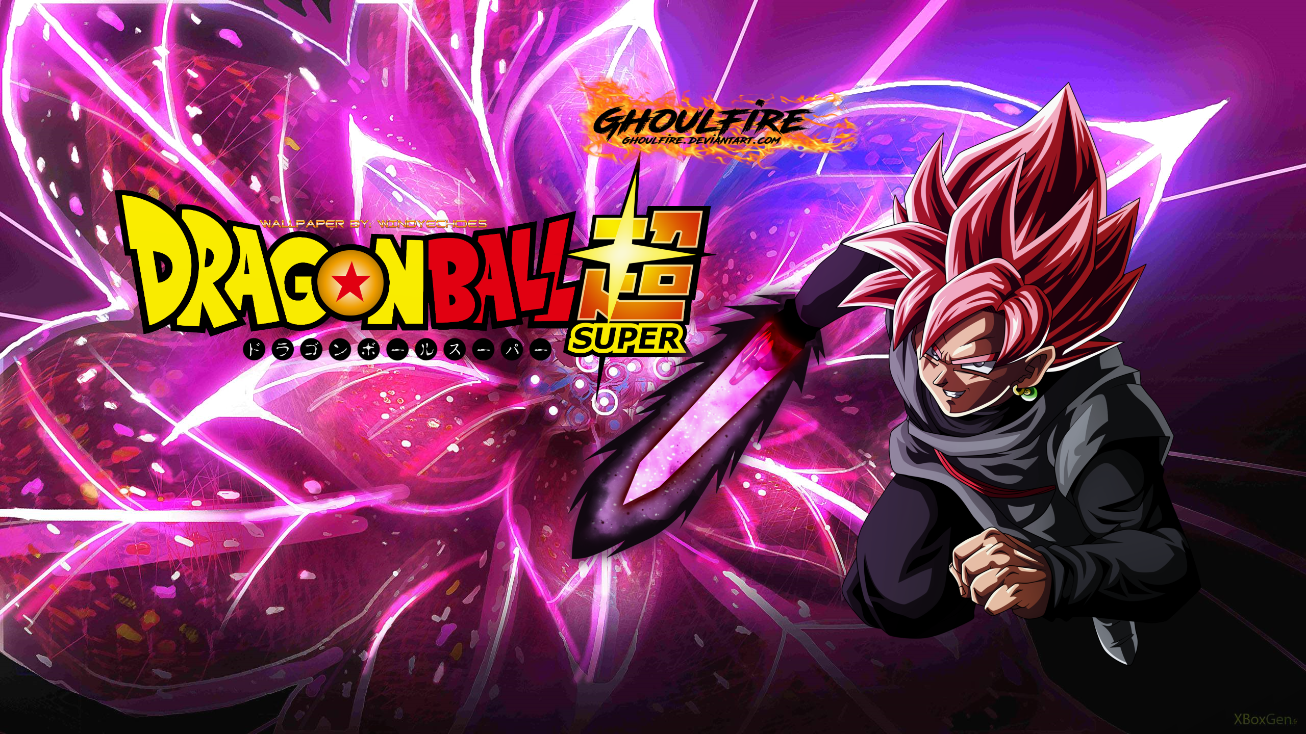 Goku Black Super Saiyan Rose Background By Windyechoes On