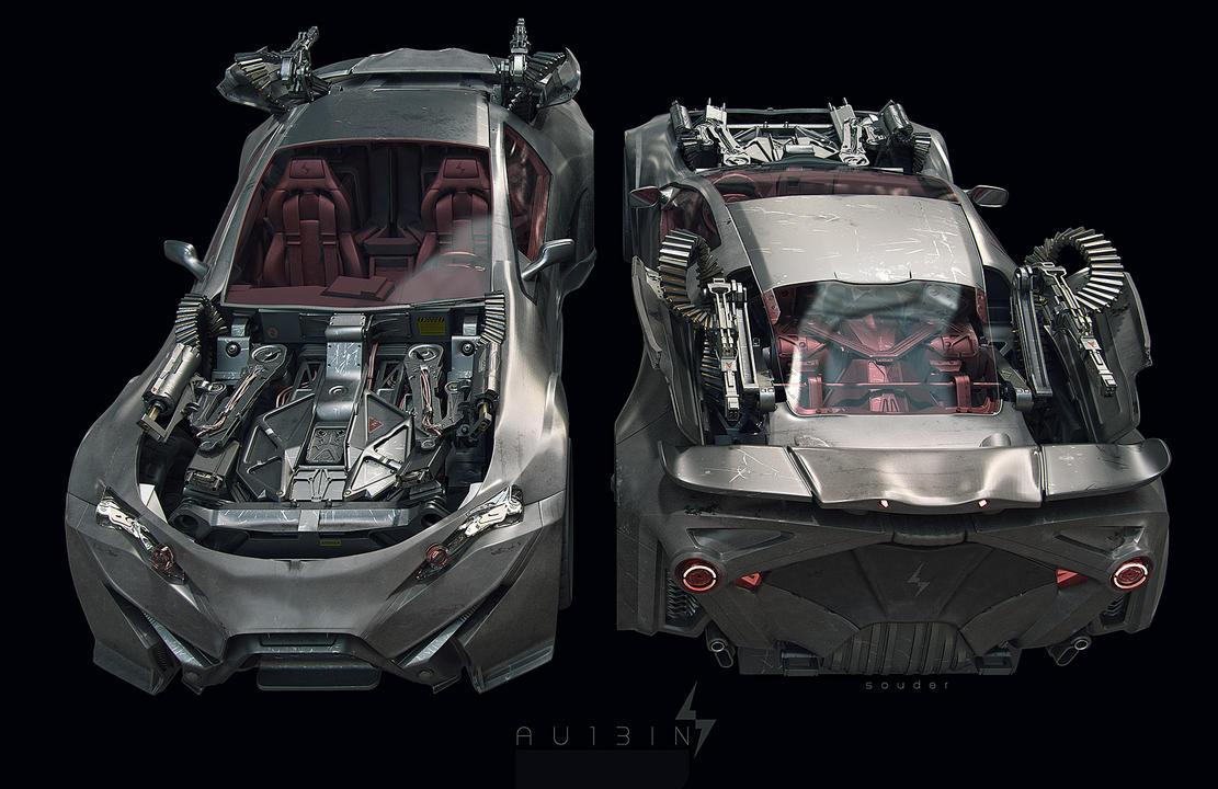 AU13IN :: robotic supercar by Looprix