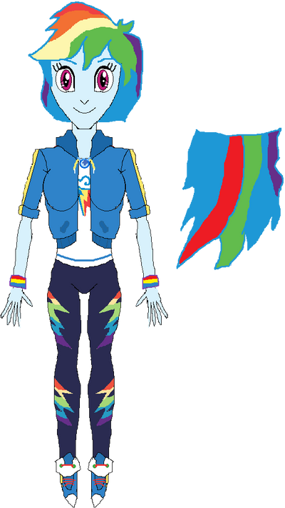 Rainbow Dash (New Outfit) by WILLIAM-1998