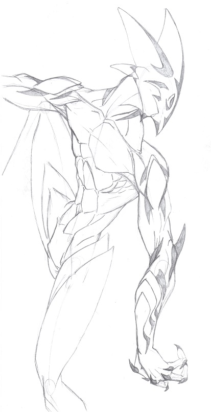 Tigrewyrm Sketch by joemaos