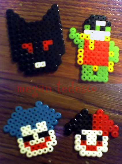 Lego Batman Perler Beads by MeganTheartist